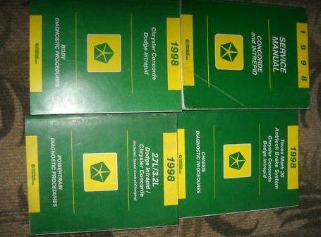 1998 Dodge Intrepid Shop Service Repair Manual Set OEM (powertrain/chassis/body diagnostics procedures manuals only.)