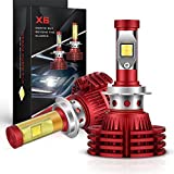 Autofeel LED Headlight Bulbs All-in-One Conversion Kit - H7-8,000Lm 6000K Cool White Osram P10 Chips- 5 Year Warranty