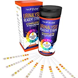 10 Parameter Urinalysis Test Strips 150ct, Urinary Tract Infection Strips (UTI) Urine Test Strips Test Glucose, Ketone, pH, Protein, And More, for Those With Diabetes, Gallbladder, and Kidney Problems