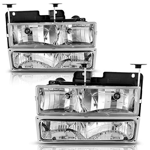 Chevy Truck Headlamp Headlight - Composite Headlights & Headlamp with Bumper Lights for 1994-2002 Chevy GMC Pickup Truck
