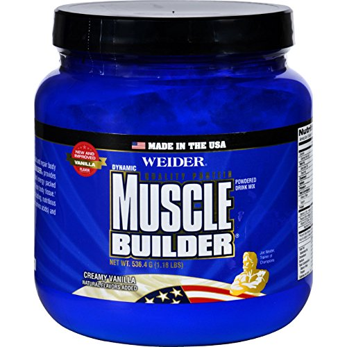 Weider Global Nutrition Muscle Builder - Dynamic - Powder - Vanilla - 1.18 lb -