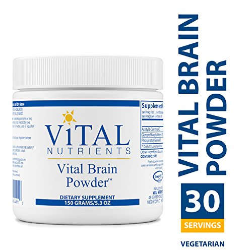 Nutrients Brain (Vital Nutrients - Vital Brain Powder - Support for Brain Health and Cognitive Function - Vegetarian - 150 Grams)
