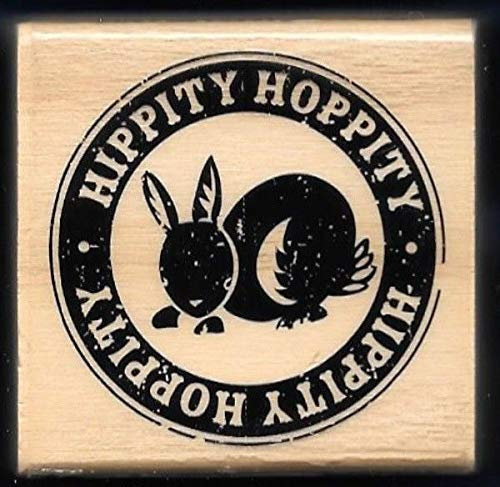 Bunny Postage - Rubber Stamp Frames Hippity Hoppity Bunny RABBITpost Seal Postage New Craft Smart Wood Rubber Stamp