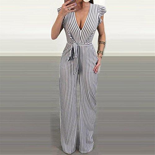 Robes Mesdames Ruffle Halter Ansenesna Simple Ete Sexy Femme Combinaison Stripe Chic Striped Blanc Bustier Vintage Elegante C0wxdRHq4w