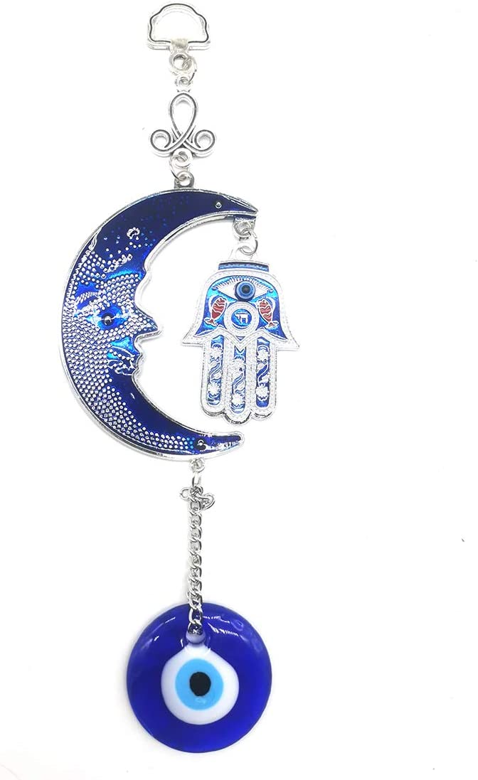 Blue Evil Eye Hanging Decoration Amulet Wall Decor Hanging Home Decor Car Lucky Moon Pendant