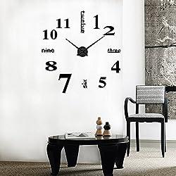 Clock Acrylic Modern DIY Wall Clock 3D Mirror Surface Sticker Home Office Decor Home Garden Kitchen Accessories Clocks Alarm Clock