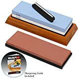 Whetstone Knife Sharpening Stone – NEW Upgraded 3 Grit Whetstone Knife Sharpening Kit