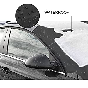 "Windshield Snow Car Cover with 6X Magnetic Edges 2win2buy Windproof & Dustproof Front Window Car Cover Frost & Ice Removal Protect Wipers Easy Installation Fit Most Trucks Cars Vans – 84""x50"""