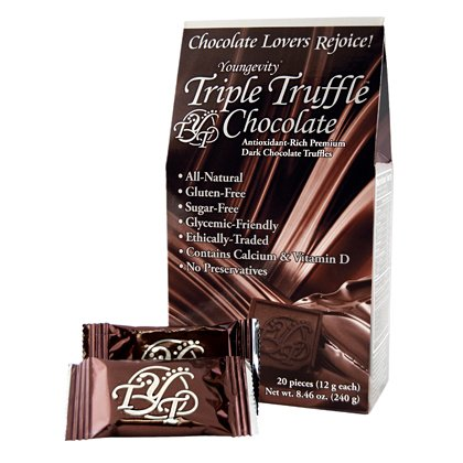 TRIPLE TRUFFLE CHOCOLATE - 20 COUNT BOX - 6 Pack by Youngevity