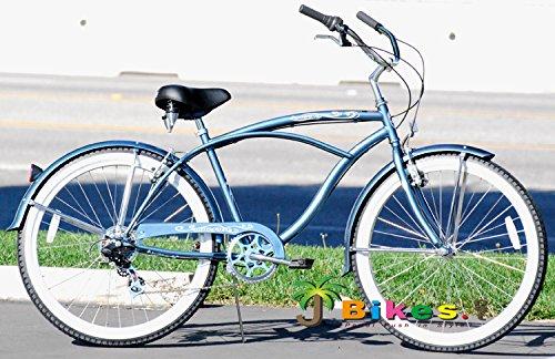 Micargi Pantera 7-speed 26 for men (Grey), Beach Cruiser Bike Schwinn Nirve Firmstrong Style by Micargi B00ABXFRJA