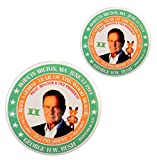George H.W. Bush Magnet + Pin, Astrology Gemini Zodiac Wood Mouse) 41st President