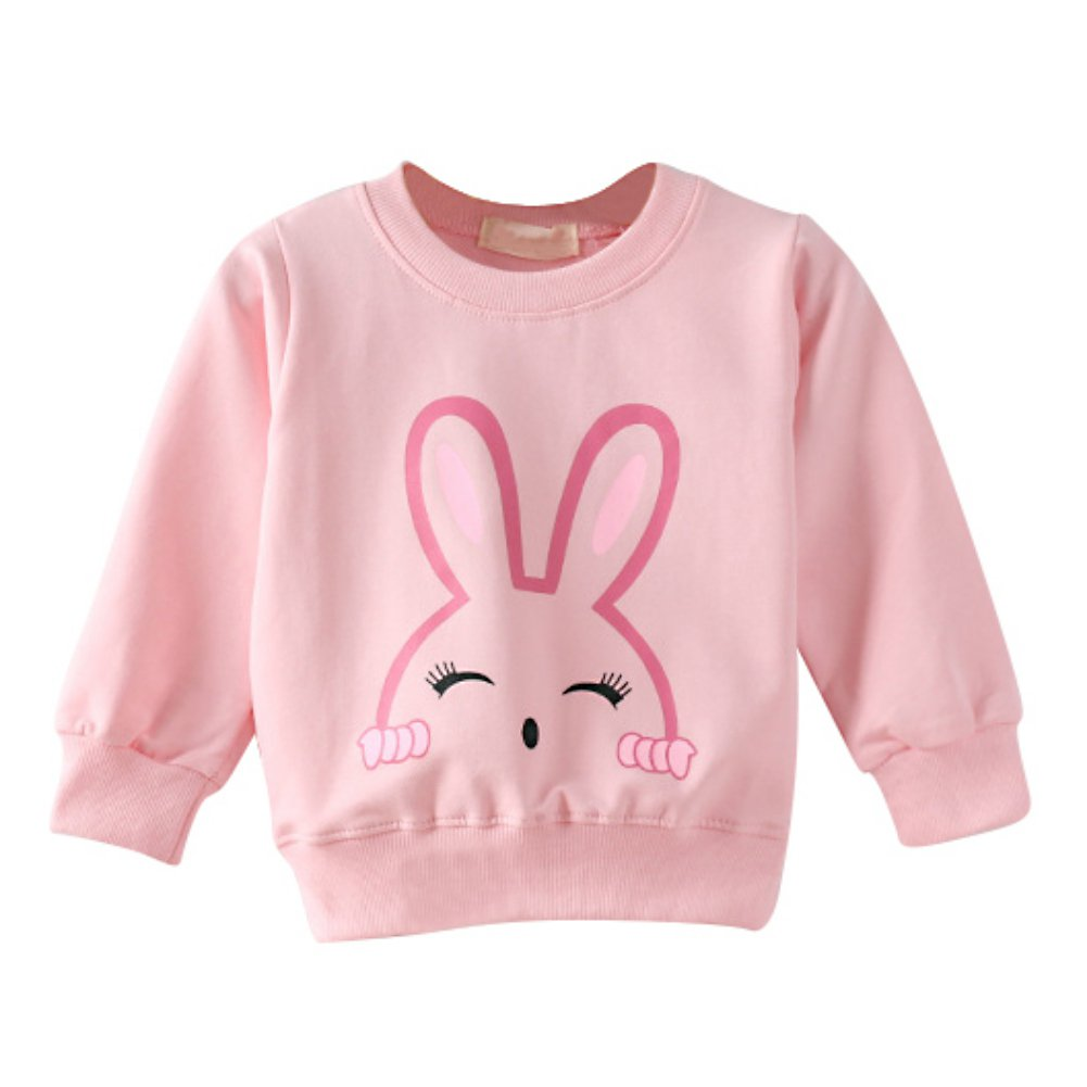 BOBORA Baby Girl Boy Long Sleeve Pullover Sweater Children Cute Giraffe Rabbit Motif Sweatshirts for 0-4 Yrs BO-UK745