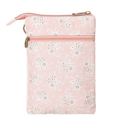 Small Bags Cell Pink Wallet Canvas For Women Purse Crossbody Phone Lace w6X6pUSq