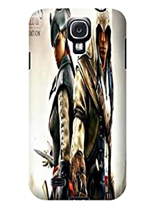 Colorful flip tpu cover case for Samsung Galaxy s4(Assassin's Creed)by Kathleen Kaparski with texture