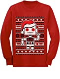 51QSwXzfYVL. SL160  - TeeStars - Big Santa Robot Ugly Christmas Sweater Youth Kids Long Sleeve T-Shirt Medium Red