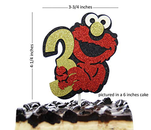 Make A Wish Elmo Inspired Three Birthday Cake Topper