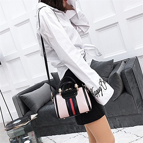 Hit Shoulder Retro Asdflina Suitable Bag Capacity Simple Bag Lock Pu Boston Pink Use Everyday Large Color Messenger For wXt4xqvpfx