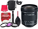Canon EF-S 10-18mm f/4.5-5.6 IS STM Lens for Canon DSLR Cameras - International Version (No Warranty) + 3pc Filter Kit (UV, FLD, CPL) + 3pc Accessory Kit w/ Celltime Cleaning Cloth