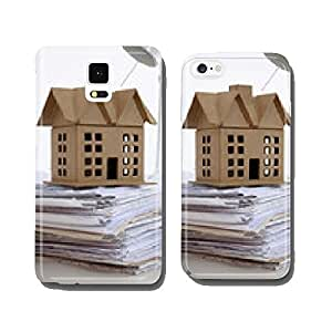 Image of new model house on architecture blueprint plan cell phone cover case Samsung S5