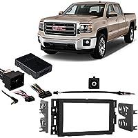 Fits GMC Sierra 2500HD/3500HD 2014 w/OE NAV DDIN Harness Radio Dash Kit