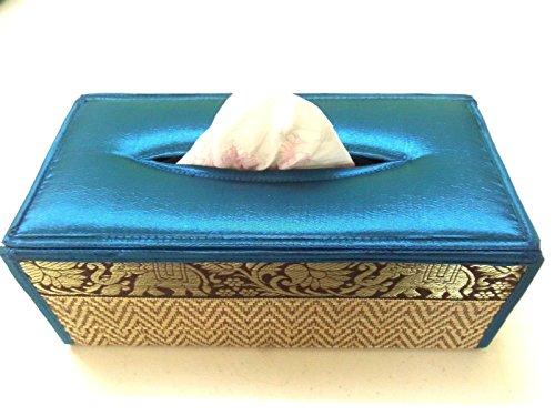 Vintage Tissue Box Cover Blue Home Decor Napkin Paper Holder Case - Gatsby Sg