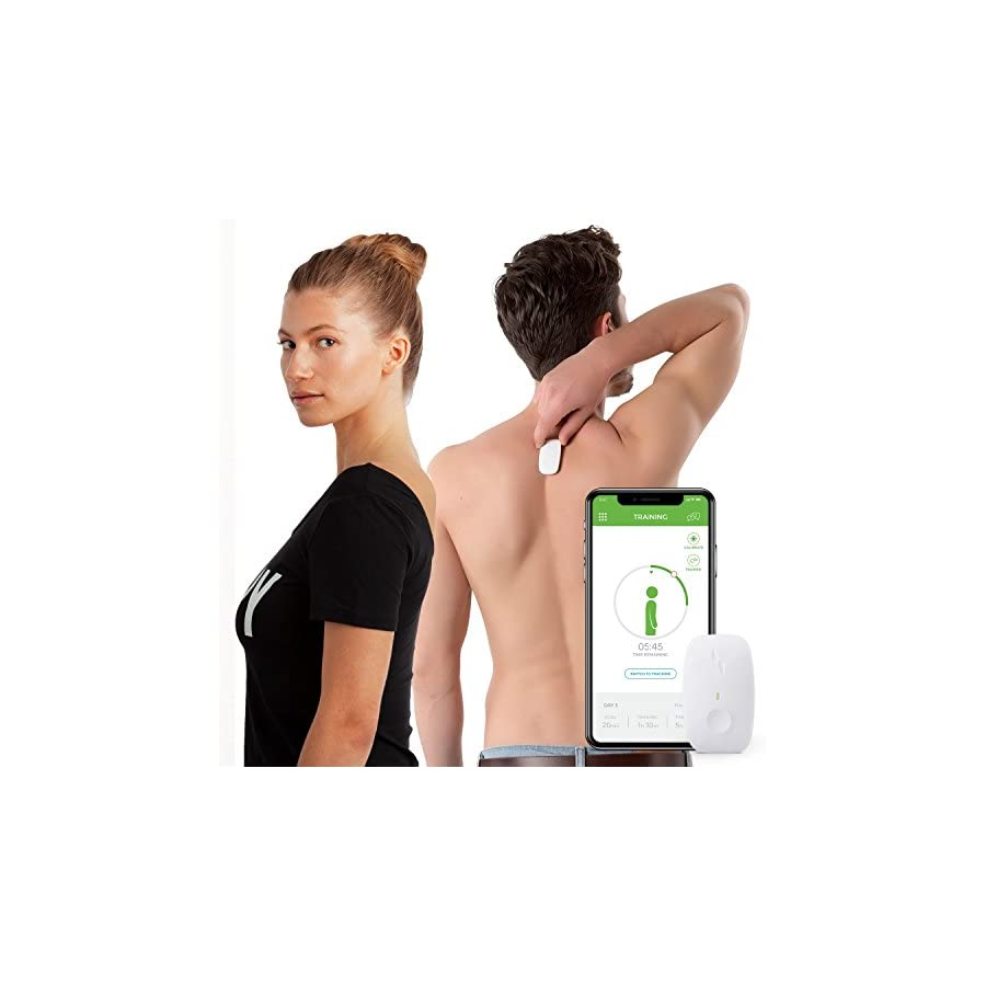 Upright GO Posture Trainer and Corrector for Back   Strapless, Discrete, Easy to Use   Complete with App and Training Plan   Back Health Benefits and Confidence Builder   Improved Posture in No Time