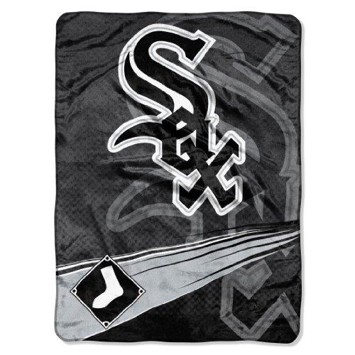 MLB Chicago White Sox Speed Plush Raschel Throw Blanket, 60x80-Inch