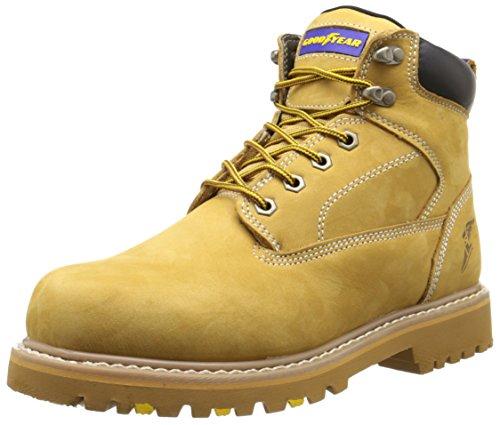 Goodyear Men's Daytona Soft Toe Work Boot, Wheat, 11 W (Daytona Boot)