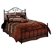Hillsdale Furniture 1403BQR Harrison Bed Set with Rails, Queen, Texture Black