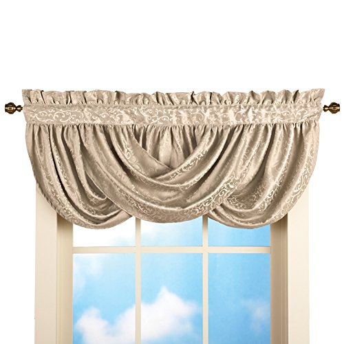 Scoop Scroll Pocket Window Valance