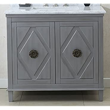 Legion Furniture WLF7036-36 36 Sink Vanity Cabinet Match with Wlf6036-37 Top without Faucet, Grey