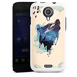 WIKO Darknight y carcasa White - You 'll as a Wolf