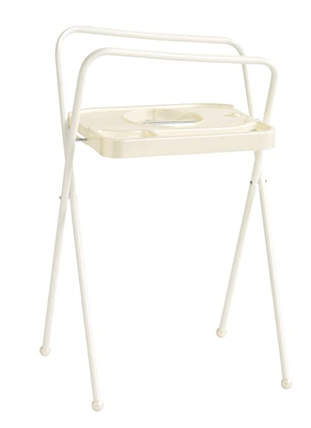 Bebe-jou Baby soporte de baño 98 cm Uni color perla/color blanco