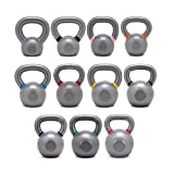 Onefitwonder Solid Cast Iron Kettlebells Set for Crossfit Training Strength Training Gym Exercise Superior Grip 4/6/8/10/12/14/16/18/20/24/32