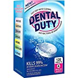 120 Retainer And Denture Cleaning Tablets -(4 Months Supply)- Removes Stain, Plaque & Bad Odor from Dentures, Night Guard, Mouth Guard & Removable Dental Appliances. Made In USA.