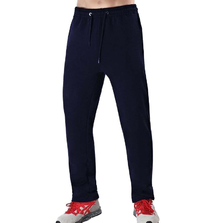f4b7337b0d Abetteric Men Plus Velvet Plus Size Warm Athletic Baggy Drawstring Casual  Pants