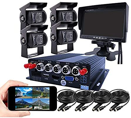 Amazon Com Joinlgo 4 Channel Gps 4g 1080p Ahd Mobile Vehicle Car Dvr Mdvr Video Recorder Kit Real Time Monitor On Pc Phone With 4 Metal Side Front Rear View Ip69 Backup Car