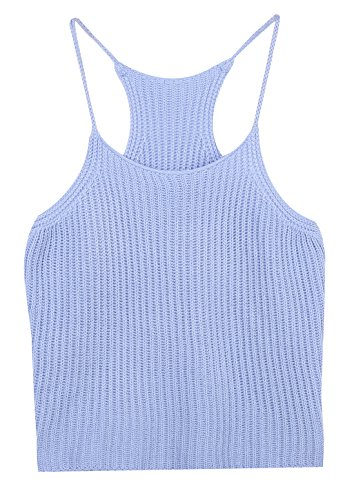 Women's Halter High Neck Crochet Bikini Crop Top Camisole Bustier Bra Vest