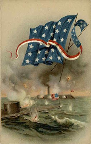 (The Monitor Victory Civil War Original Vintage Postcard)
