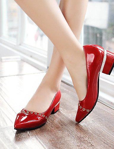 Y Silver De de Piel Al blanco us8 5 Eu39 Zapatos Aire Toe Pdx Pisos Uk6 Libre oficina rojo Cn40 Carrera 5 Tacn Punta Bajo casual Rosa Mujer Sinttica qxZ1PnwEd