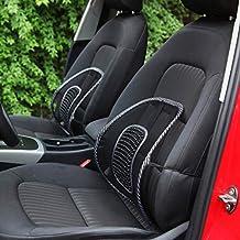 Landfox Mesh Lumbar Back Brace Support Office Home Car Seat Chair Cushion