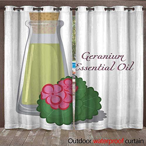 RenteriaDecor Home Patio Outdoor Curtain Geranium Essential Oil W96 x ()