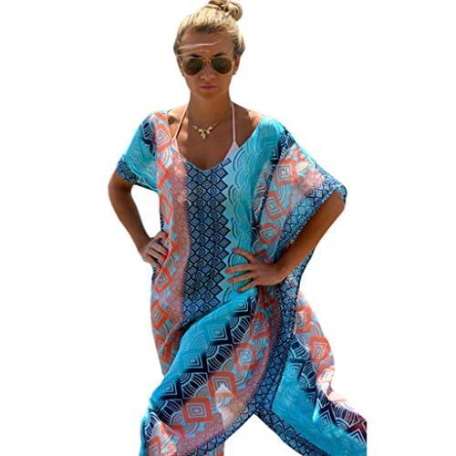 2e7a985368f durable service Akery Women s Chiffon Robe Beach Dress Swimsuit Bikini  Cover Up