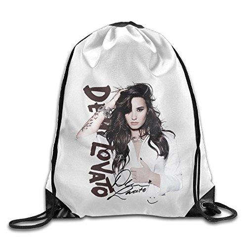 Bekey Demi Singer Lovato Poster Gym Drawstring Backpack Bags For Men & Women For Home Travel Storage Use Gym Traveling Shopping Sport Yoga Running (Words To Let It G)