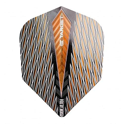 10 x Sets Target Dart Flights Small Standard Vision Ultra Quartz Orange by PerfectDarts