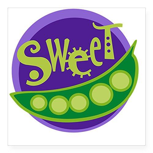 CafePress Sweet Pea Square Sticker 3