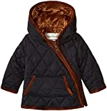 Widgeon Baby Nylon Quilted Hooded Asymmetrical Jacket, Qna/Navy, 24 Months