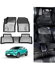 KUST 3D Floor Mats for Toyota C-HR 2017 2018 2019 2020 2021 CHR All Weather Floor Carpet Liners TPE 2 Row Black Liner Set