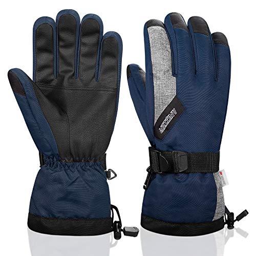 LANYI Winter Gloves for Men Women 3M Thinsulate Waterproof Ski Thermal Black Gloves Snowboard...