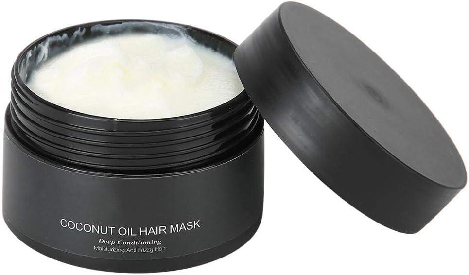 Mascarilla capilar nutritiva, mascarilla de tratamiento capilar con vapor gratuito, con aceite de coco/ingredientes reparadores de loción/hierbas extraídas, para reparar el cabello dañado en seco